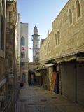 παλαιός τοίχος μιναρών της Ιερουσαλήμ πόλεων εξωτερικός Στοκ Φωτογραφία