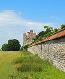 Παλαιός τοίχος πετρών κάπου στην Αγγλία Στοκ Φωτογραφίες