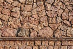 Παλαιός τοίχος πετρών Σύσταση του παλαιού τοίχου πετρών Στοκ φωτογραφίες με δικαίωμα ελεύθερης χρήσης