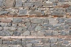 παλαιός τοίχος πετρών Στοκ Φωτογραφία