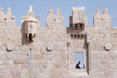 Παλαιός τοίχος πόλεων της Ιερουσαλήμ Στοκ εικόνα με δικαίωμα ελεύθερης χρήσης