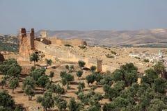 Παλαιός τοίχος πόλεων Fes, Μαρόκο Στοκ Φωτογραφίες