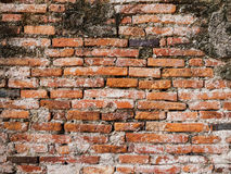 παλαιός τοίχος τούβλου ανασκόπησης Στοκ φωτογραφία με δικαίωμα ελεύθερης χρήσης