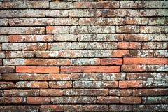 παλαιός τοίχος τούβλου Σύσταση τούβλου Σχέδιο τούβλου Μέρος του τουβλότοιχος Στοκ Εικόνα