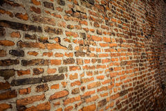 παλαιός τοίχος τούβλου background retro closeup Στοκ φωτογραφίες με δικαίωμα ελεύθερης χρήσης