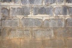 Παλαιός τοίχος τσιμεντένιων ογκόλιθων Στοκ φωτογραφία με δικαίωμα ελεύθερης χρήσης