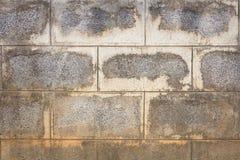 Παλαιός τοίχος τσιμεντένιων ογκόλιθων Στοκ Φωτογραφία
