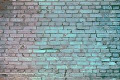 Παλαιός τουβλότοιχος με τα γκρίζα τούβλα Στοκ φωτογραφίες με δικαίωμα ελεύθερης χρήσης