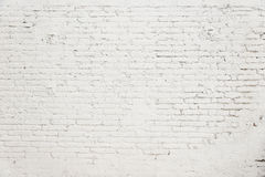 Παλαιός τουβλότοιχος με την άσπρη σύσταση υποβάθρου χρωμάτων Στοκ φωτογραφία με δικαίωμα ελεύθερης χρήσης