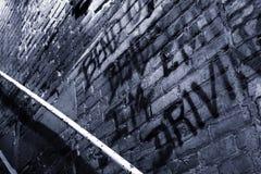 Παλαιός τουβλότοιχος περίπτωσης σκαλοπατιών Στοκ Φωτογραφίες