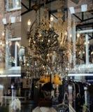 Παλαιός τρύγος storefront με το μέρος της παλαιάς ουσίας, γκαλερί τέχνης έννοιας ζωής πόλεων Στοκ Εικόνες