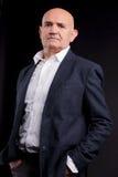 Παλαιός φαλακρός επιχειρηματίας Στοκ Εικόνες