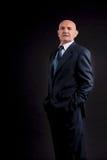 Παλαιός φαλακρός επιχειρηματίας Στοκ φωτογραφία με δικαίωμα ελεύθερης χρήσης