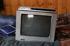 Παλαιός φορέας TV και DVD Στοκ εικόνα με δικαίωμα ελεύθερης χρήσης