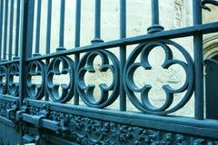 Παλαιός φράκτης σιδήρου. Στοκ εικόνες με δικαίωμα ελεύθερης χρήσης