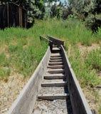 Παλαιός φράχτης μεταλλείας στοκ εικόνα