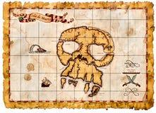 Παλαιός χάρτης θησαυρών πειρατών Στοκ Εικόνα