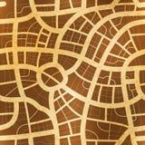 Παλαιός χάρτης σε παλαιό κατασκευασμένο χαρτί, άνευ ραφής σχέδιο ελεύθερη απεικόνιση δικαιώματος