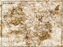 Παλαιός χάρτης της Κίνας στοκ εικόνα