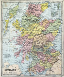 Παλαιός χάρτης της Σκωτίας Στοκ Εικόνα