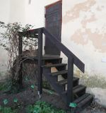 παλαιός χάλυβας πορτών στοκ εικόνες