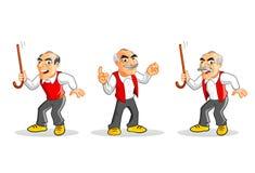 Παλαιός χαρακτήρας ατόμων κινούμενων σχεδίων Στοκ εικόνα με δικαίωμα ελεύθερης χρήσης