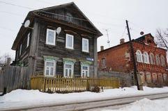 Παλαιός χειμώνας σπιτιών Στοκ Εικόνες