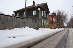 Παλαιός χειμώνας σπιτιών Στοκ Φωτογραφίες