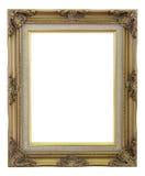 Παλαιός χρυσός πλαισίων και απομονωμένο τρύγος υπόβαθρο χαλκού Στοκ Εικόνες