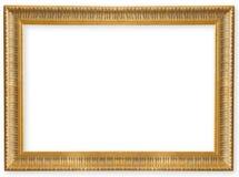 Παλαιός χρυσός πλαισίων που απομονώνεται Στοκ Φωτογραφία