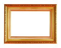 παλαιός χρυσός πλαισίων ψαλιδίσματος ανασκόπησης συμπεριλαμβανομένου του απομονωμένου λευκού μονοπατιών Στοκ Εικόνες