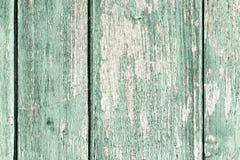 Παλαιός χρωματισμένος ξύλινος τοίχος - σύσταση ή υπόβαθρο Στοκ Εικόνα