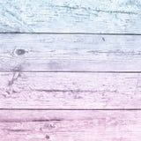 Παλαιός χλωμός - ρόδινο μπλε ξύλο σανίδων ombre Στοκ Φωτογραφία