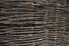 Παλαιός ψάθινος φράκτης Στοκ εικόνες με δικαίωμα ελεύθερης χρήσης