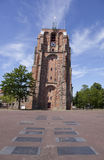 Παλαιός lopsided πύργος oldehove στο κέντρο της αρχαίας πόλης Leeuwa Στοκ Φωτογραφίες