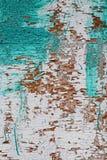 Παλαιός woodent ραγισμένος τοίχος με το shabby χρώμα Στοκ φωτογραφία με δικαίωμα ελεύθερης χρήσης
