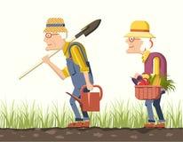 Παλαιότεροι κηπουροί ζευγών Στοκ Εικόνα