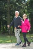 Παλαιότερο ζευγάρι strolling στοκ εικόνες με δικαίωμα ελεύθερης χρήσης