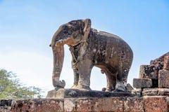 Παλαιό άγαλμα ελεφάντων στο ankor wat, Καμπότζη Στοκ εικόνες με δικαίωμα ελεύθερης χρήσης