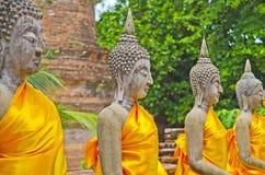 Παλαιό άγαλμα του Βούδα στο ναό Στοκ Εικόνα