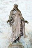 Παλαιό άγαλμα του Ιησούς Χριστού Στοκ εικόνες με δικαίωμα ελεύθερης χρήσης