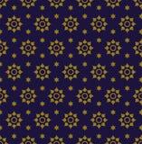 Παλαιό άνευ ραφής υπόβαθρο 556 εκλεκτής ποιότητας αστέρι γύρω από το λουλούδι Στοκ Φωτογραφίες