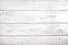 Παλαιό άσπρο ξύλινο υπόβαθρο, αγροτική ξύλινη επιφάνεια με το διάστημα αντιγράφων Στοκ Εικόνες