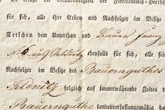 Παλαιό έγγραφο από 1824 Στοκ Εικόνες