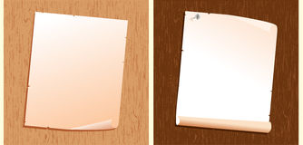 Παλαιό έγγραφο για την ξύλινη σύσταση. Διανυσματικά υπόβαθρα Στοκ Φωτογραφίες