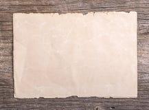 Παλαιό έγγραφο για το καφετί ηλικίας ξύλο Στοκ φωτογραφίες με δικαίωμα ελεύθερης χρήσης