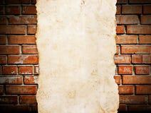 Παλαιό έγγραφο για το brickwall Στοκ Εικόνα