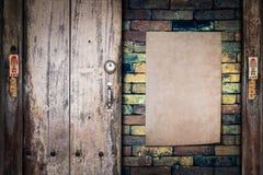 Παλαιό έγγραφο για το brickwall Στοκ φωτογραφία με δικαίωμα ελεύθερης χρήσης