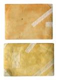 Παλαιό έγγραφο με τα ίχνη αποκατάστασης. Στοκ Εικόνες