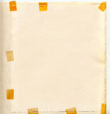 Παλαιό έγγραφο με τις αυτοκόλλητες ετικέττες Στοκ Φωτογραφίες